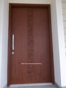 Pintu Panil Solid Kayu Jati
