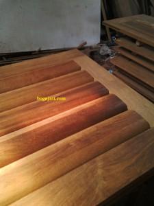 pintu panil motif bulat kayu merbau oven
