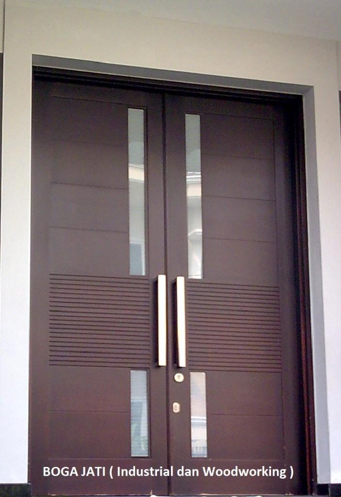 Pintu Utama Minimalis Kayu KamperOven