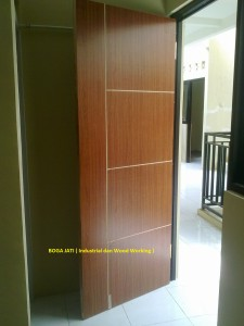 pintu kamar triplek serat.
