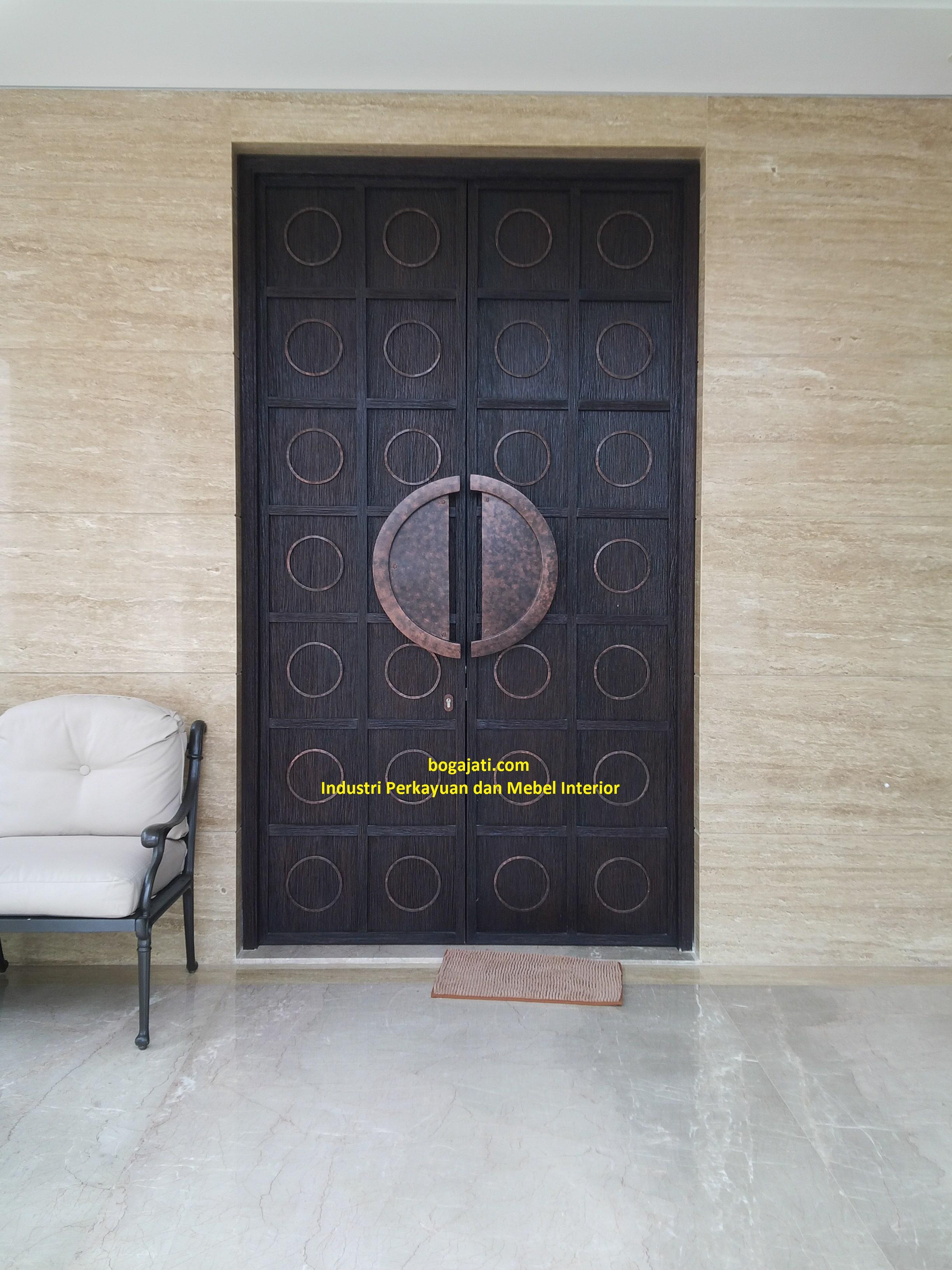 Pintu Utama Kayu Merbau Oven